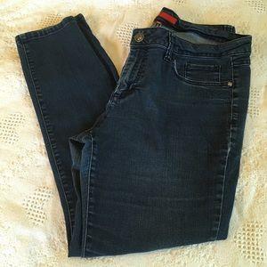 Elle Paris Skinny Stretch Jeans Dark blue Size 16